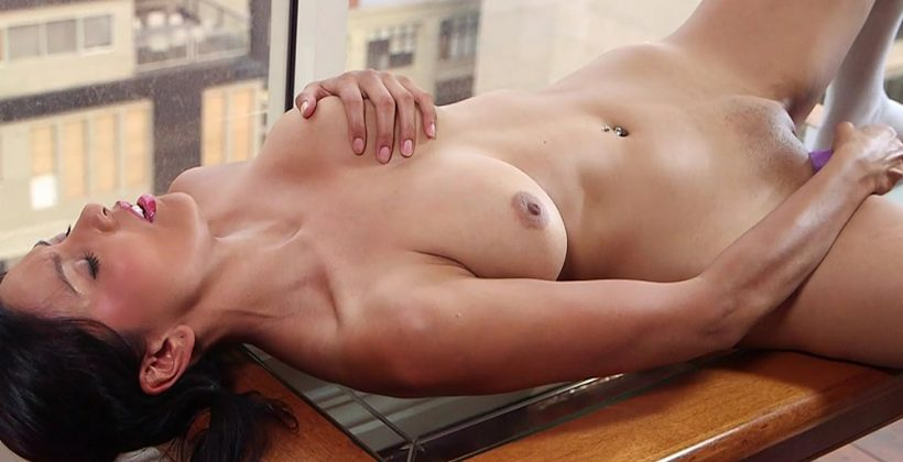 Busty Amateur Babe Testing New Toy