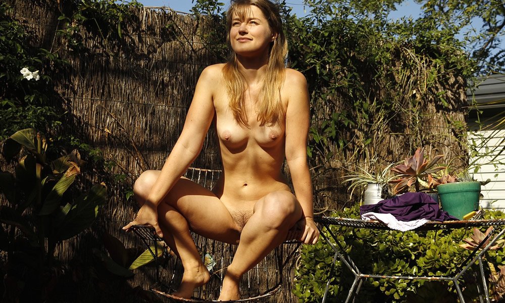 My girlfriend totally naked outdoors