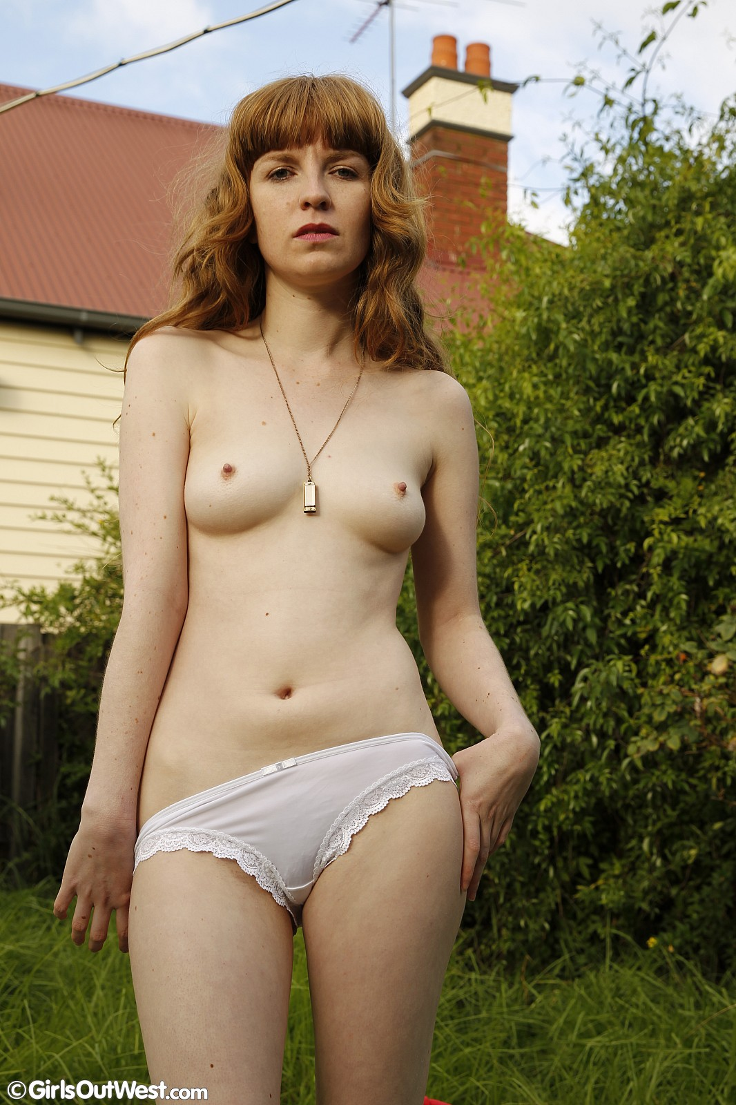 Nude Panties Outdoors