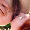 Hirsute Lesbians Fuck In The Garden