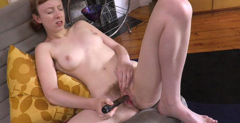 Skinny Girl Sondrine Masturbates In The Lounge Room