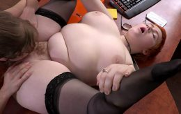 Chubby Aussie Redhead Enjoys Lesbian Rimjob And Fingering